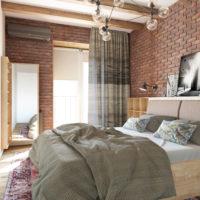 Спальня красный кирпич (1)