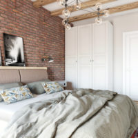 Спальня красный кирпич (2)