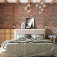 Спальня красный кирпич (4)
